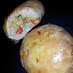 recette Bun'zza au poulet-curry et bleu