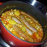 recette Ragoût d'haricots blanc aux saucisses de toulouse