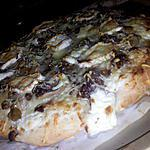 recette Pizza au boeuf champignons et chévre
