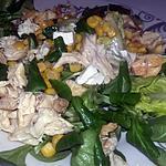recette Salade du soir poulet bleue