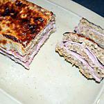 recette Croc'cake jambon-fromage (régime dukan)