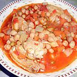 recette SOUPE AUX AILES DE POULET ET POIS CHICHES