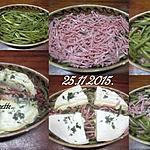 recette Haricots verts au jambon gratinés.