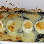 recette Épinards a la florentine gratiné a la mozzarella
