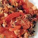 recette Gratin de tomates et oignons