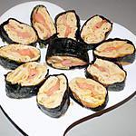 recette Maki sushi: omelette japonaise au saumon (régime dukan)