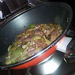 recette Boeuf aux oignons et poivrons