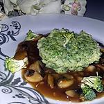 recette Flanc au brocolis sauce au champignon de Paris