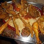 recette Couscous agneau,poulet,boulettes et merguez