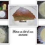 recette Gâteau au lait de coco.