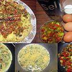 recette Omelette aux poivrons tricolores.