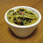 Spaghetti à la crème d'épinard