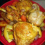 recette Tajine de cuisses de dinde aux légumes