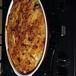 recette Gratin pomme de terres, carottes, poireaux, boulettes de boeuf hachés