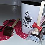 recette Sucettes au chocolat noir et marshmallow