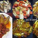 recette Endives braisées au chorizo et curcuma.