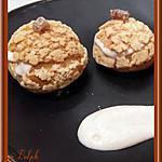 recette Choux craquelins à la crème de marron