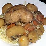 recette Paupiettes de volaille aux petits légume sauce au champignons