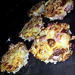 recette Muffins de coquillettes fourrée à la mozzarella