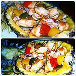 recette Riz à l'ananas et au poulet- Khao phad sapparod
