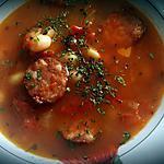 recette Soupe épicée à la saucisse et aux haricots