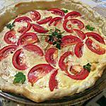 recette quiche au thon et tomate de Fanfan