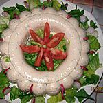 recette couronne de mousse au saint-Agur et aux noix