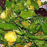 recette Salade d'épinards, noix et oranges au curry