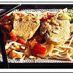 recette Nouilles chinoises au filet mignon et noix de cajou