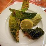 recette Rouleaux de  chou vert au saumon  fumé