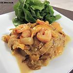 recette Endives, poivron, crevettes et sauce crémeuse au curry. Light