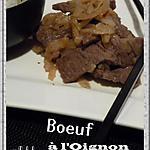 recette Boeuf à l'oignon