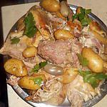 recette Pintade farcie en cocotte avec des rattes
