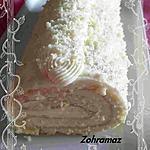 recette Bûche au chocolat blanc