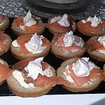 recette Toast de saumon a la sauce au saint moret et au citron