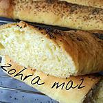 recette Baguettes sans pétrissage au beurre fondu
