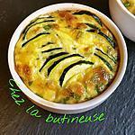 recette Minis clafoutis aux courgettes et coriandre