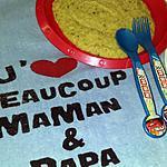 recette Soupe bébé de semoule a la courgette et au poulet