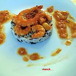 recette Gambas & son coulis de tomates épicé