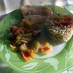 recette Filet Julienne avec ses petits légumeset riz