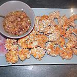 recette Crevettes panées et chutney ananas