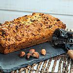 recette cake à l'orange, noisettes et pépites de chocolat