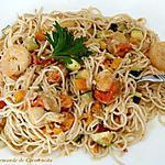 recette Nouilles chinoises terre mer