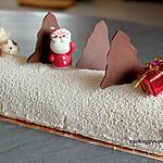 recette Bûche framboise et chocolat blanc
