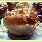 recette Cakes Courgette Comté et poitrine fumée