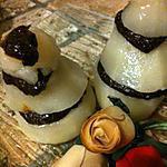 recette POIRES  POCHEES  AU  CHOCOLAT  ET  VANILLE