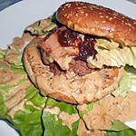 recette SANDWICH BURGER AU FOIE GRAS