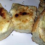 recette Tartines gratinées au chèvre miel