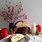 """recette Julekake, """"gâteau de Noël"""" brioché norvégien aux fruits secs et confits, parfumé à la cardamome"""