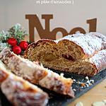 recette Marzipanstollen { pain de Noël aux fruits confits et pâte d'amandes }